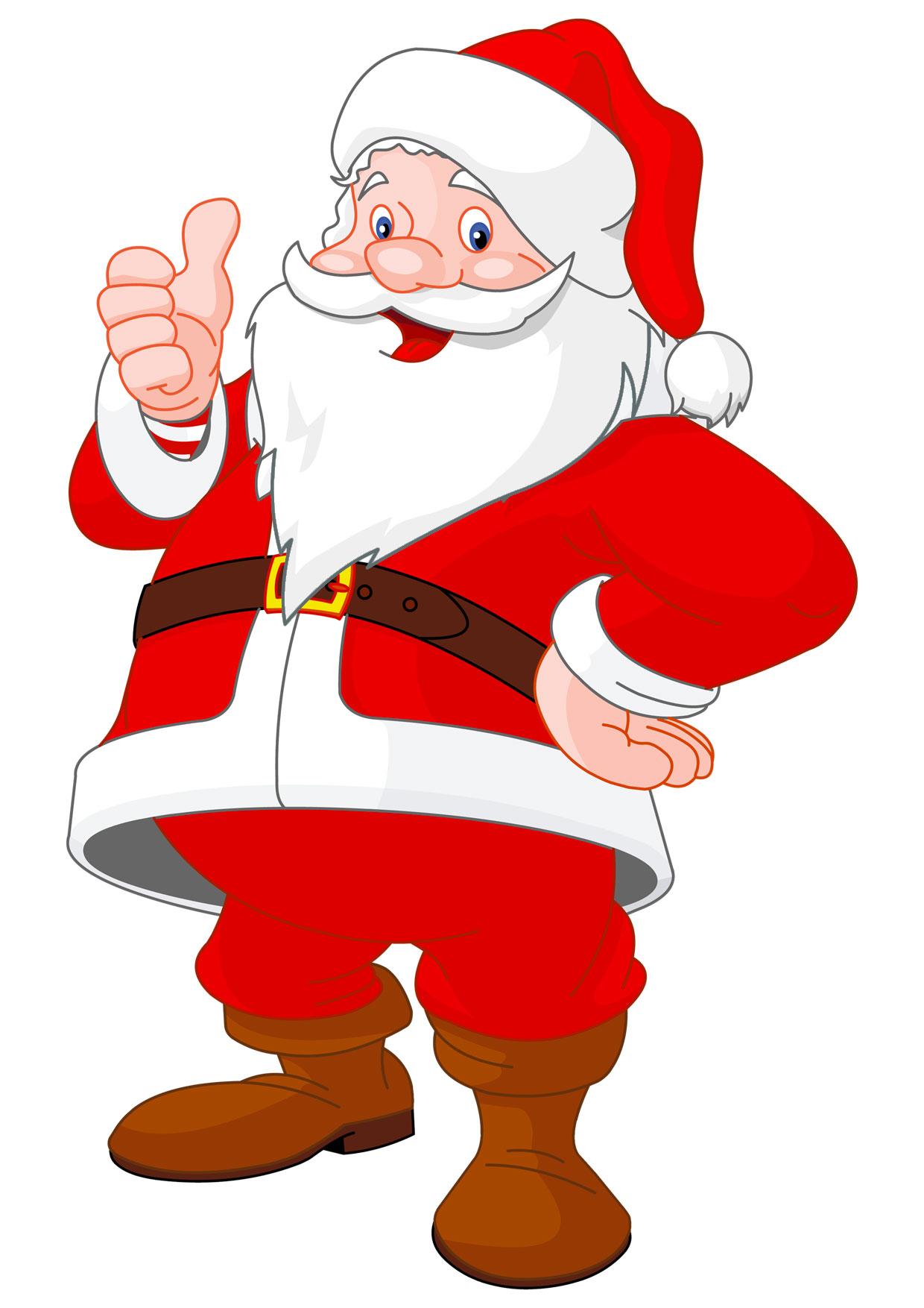 Babbi Natale.30 Disegni Di Babbo Natale Gia Colorati Da Stampare