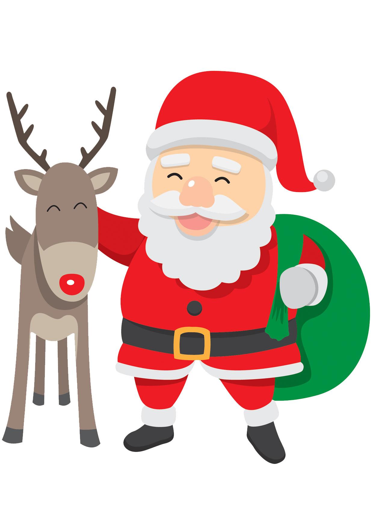 30 Disegni Di Babbo Natale Già Colorati Da Stampare Pianetabambini It