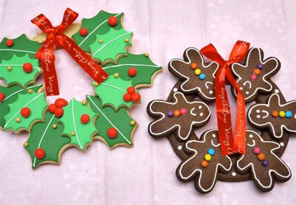 Ghirlande natalizie create con la pasta di sale