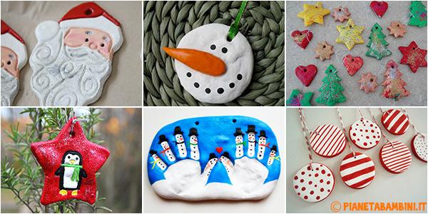 Lavoretti natalizi per bambini creati con la pasta di sale