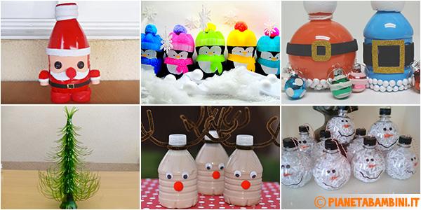 Idee per creare lavoretti di Natale con bottiglie di plastica