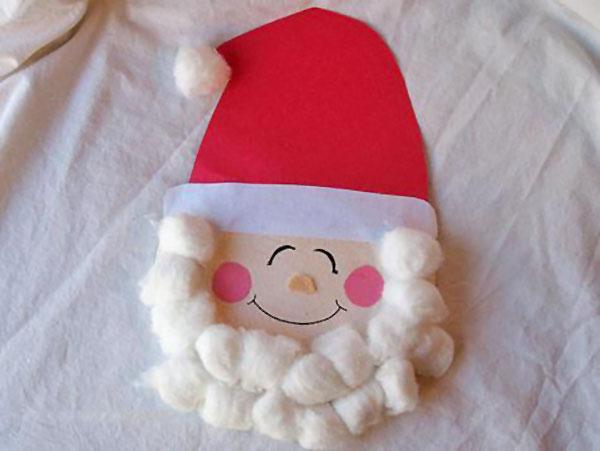 Babbo Natale creato con vecchi CD