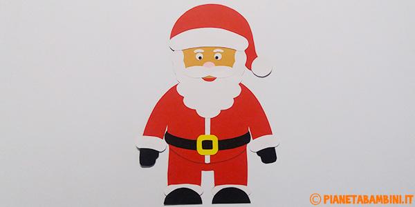 Babbo Natale creato con cartoncino come lavoretto per bambini
