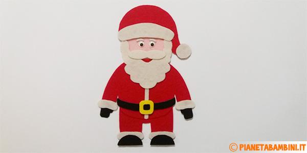 Babbo Natale in feltro come lavoretto per bambini