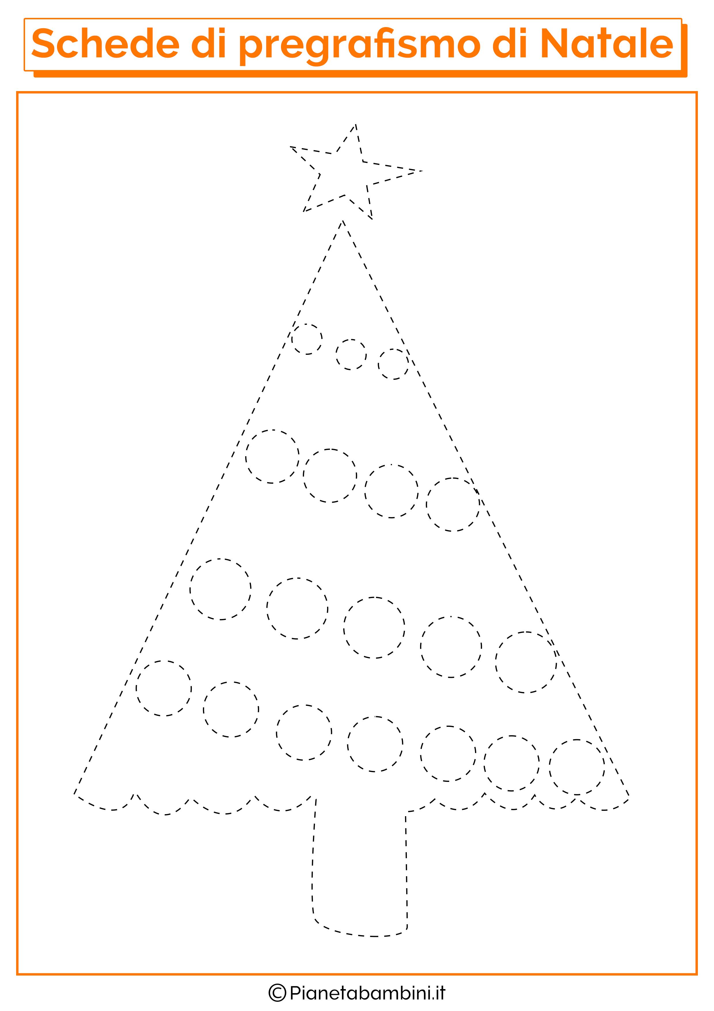 Schede Di Pregrafismo Di Natale Per La Scuola Dellinfanzia