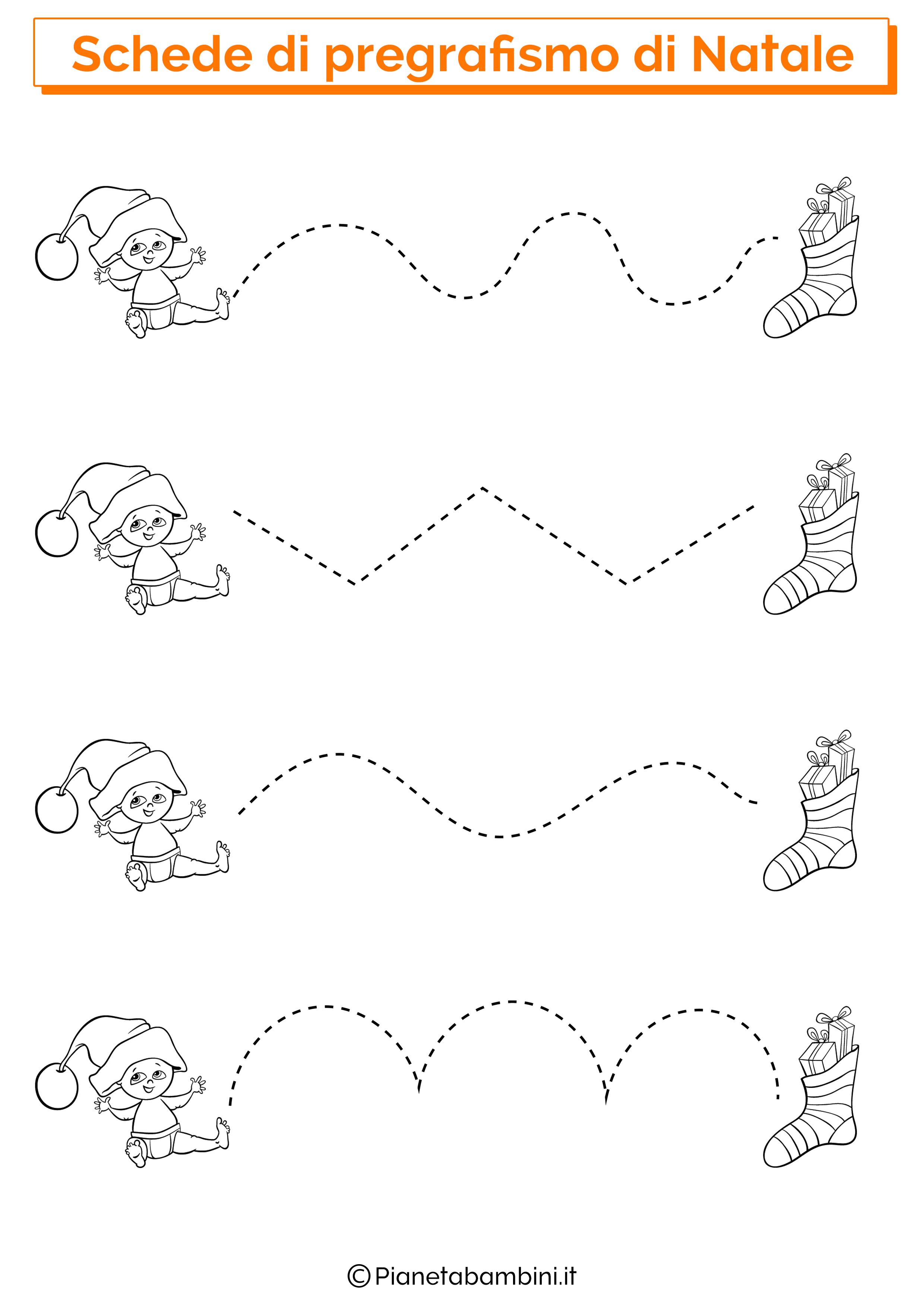 Schede pregrafismo linee Natale 03