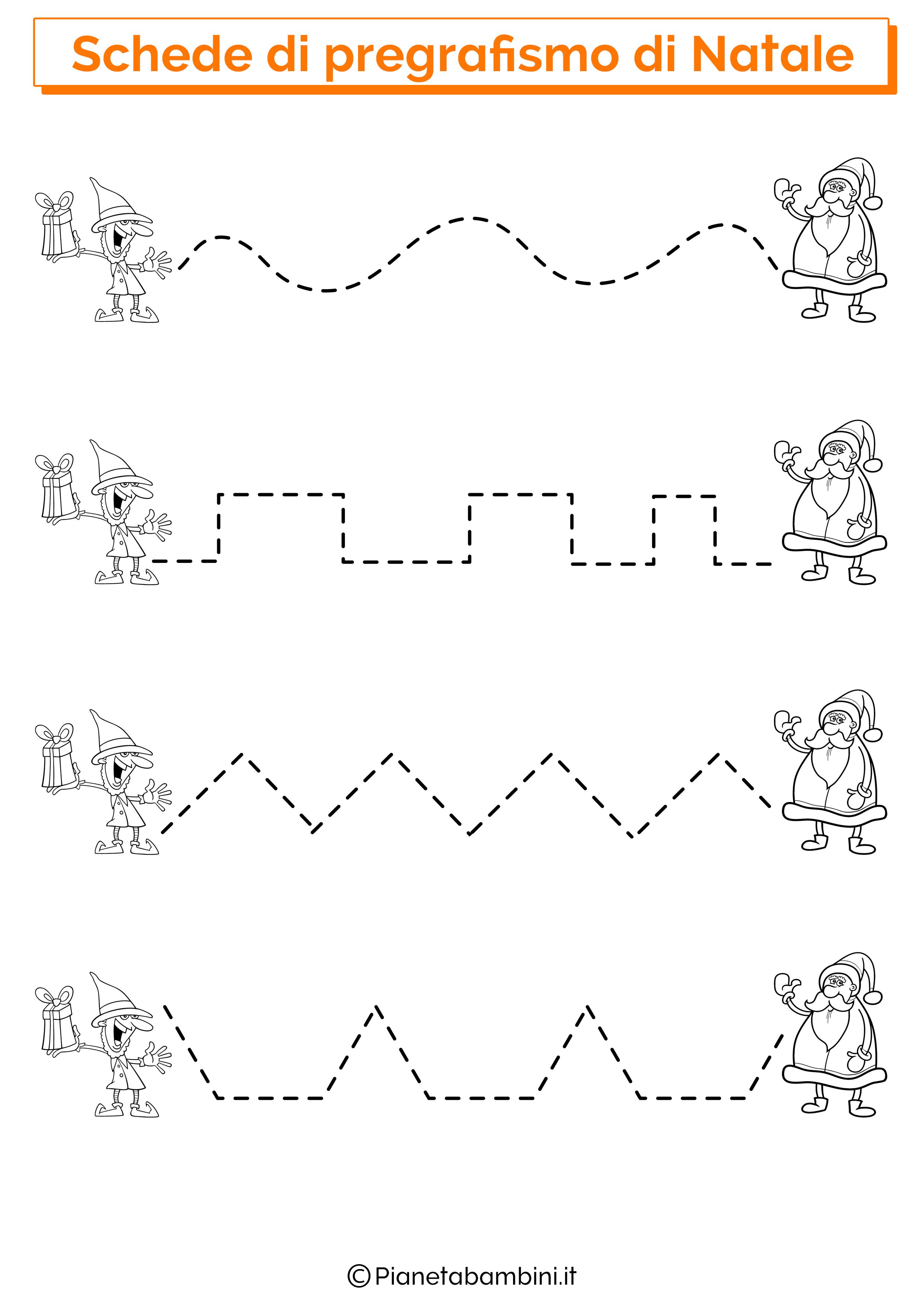 Schede pregrafismo linee Natale 04