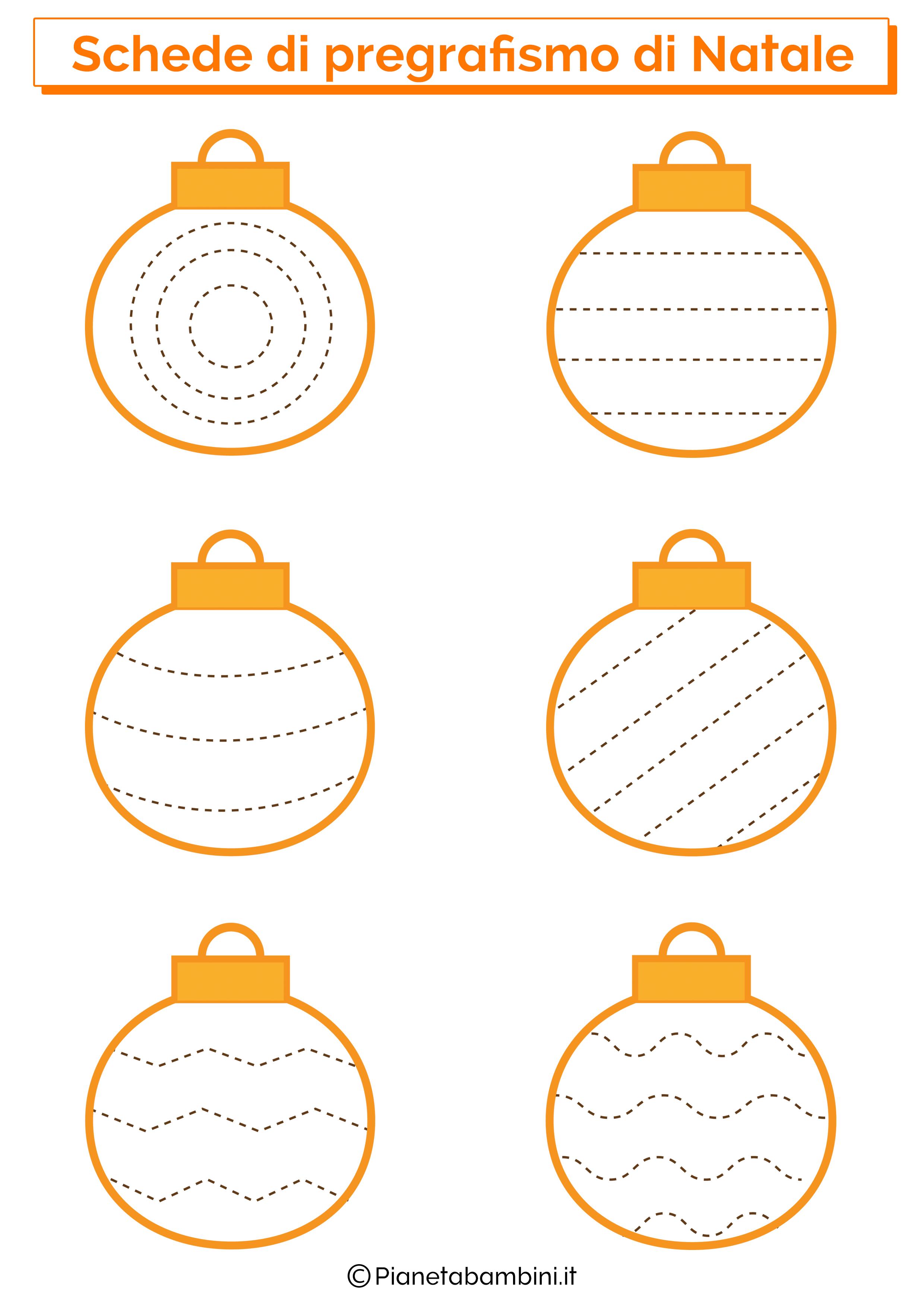 Schede pregrafismo linee Natale 08