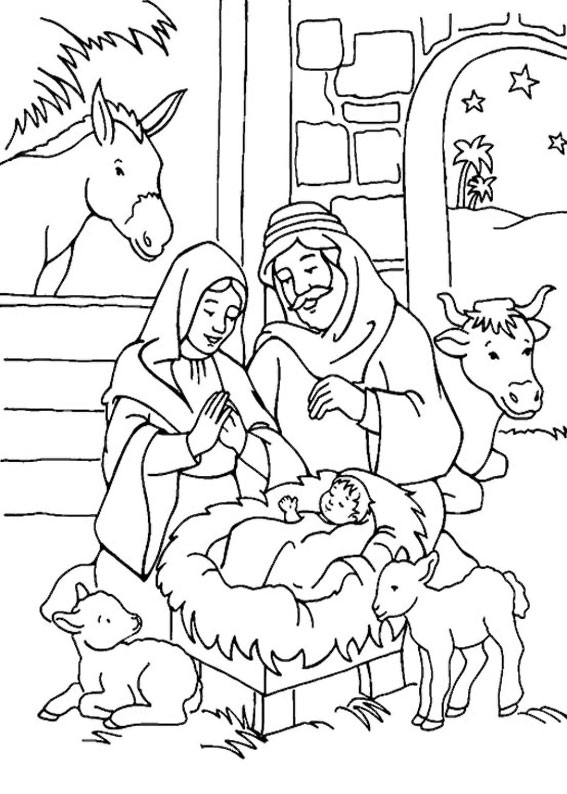 24 Disegni Del Presepe Da Colorare Pianetabambini It