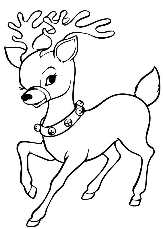 42 disegni di renne di babbo natale da colorare for Disegni facili di natale