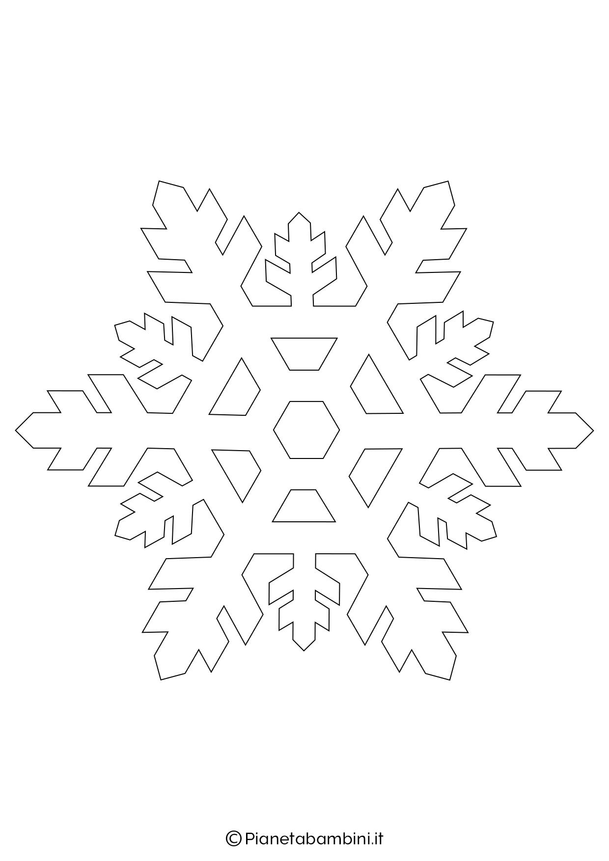 9 Sagome Di Fiocchi Di Neve Da Stampare E Ritagliare Pianetabambini It