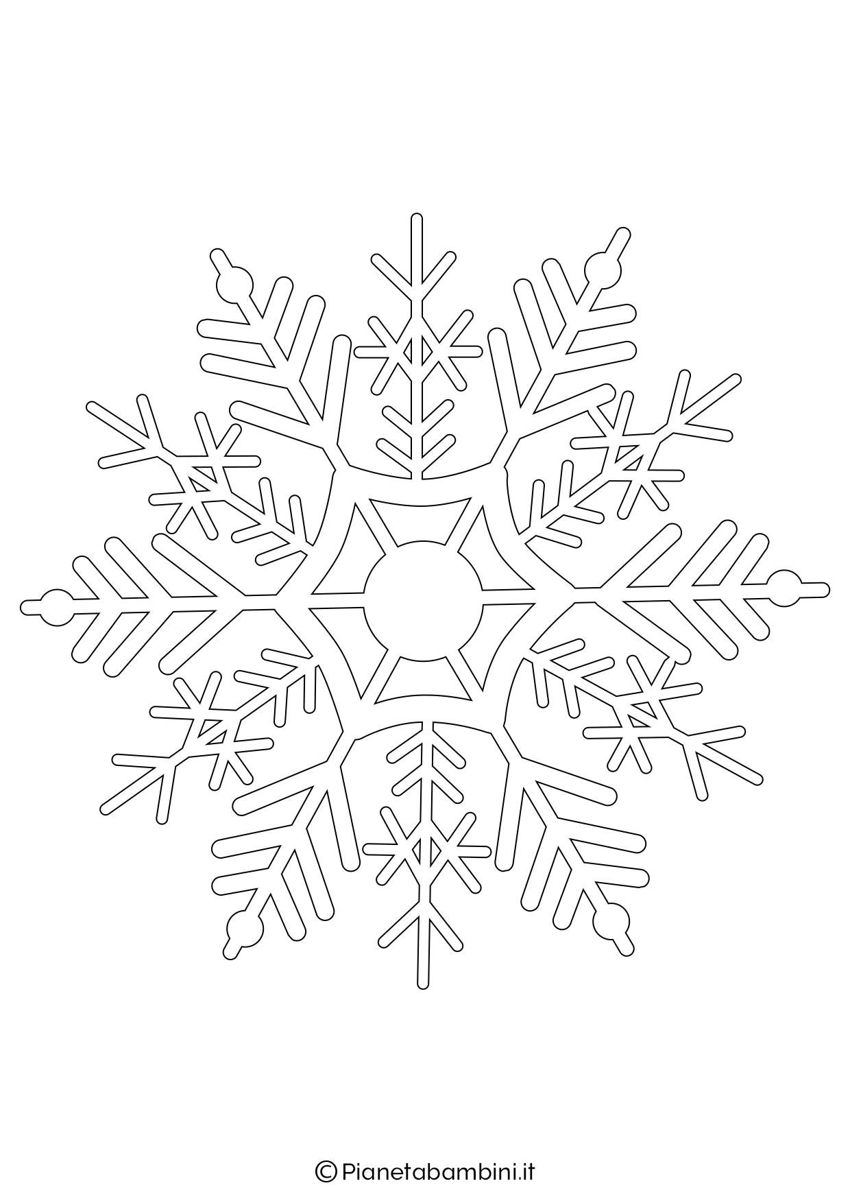 9 sagome di fiocchi di neve da stampare e ritagliare