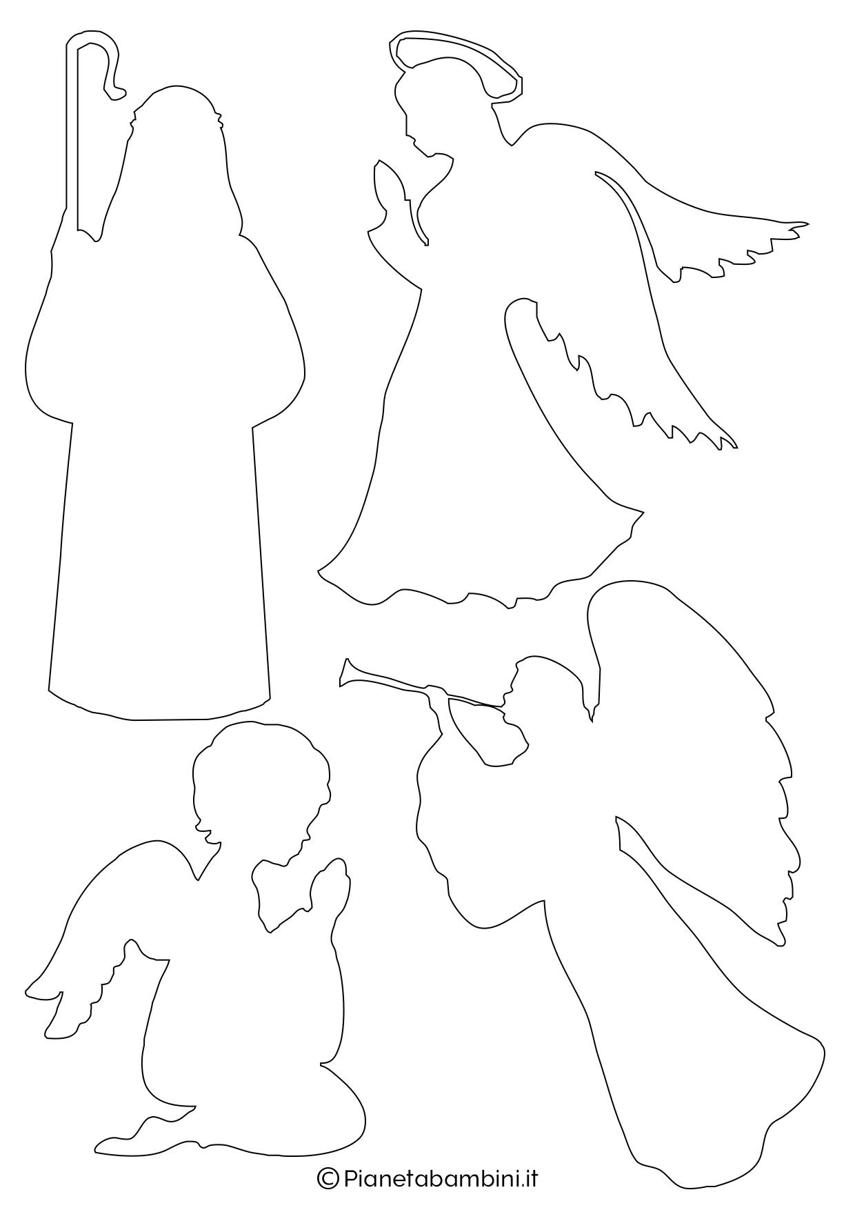 20 sagome del presepe da stampare e ritagliare for Angeli da stampare e colorare