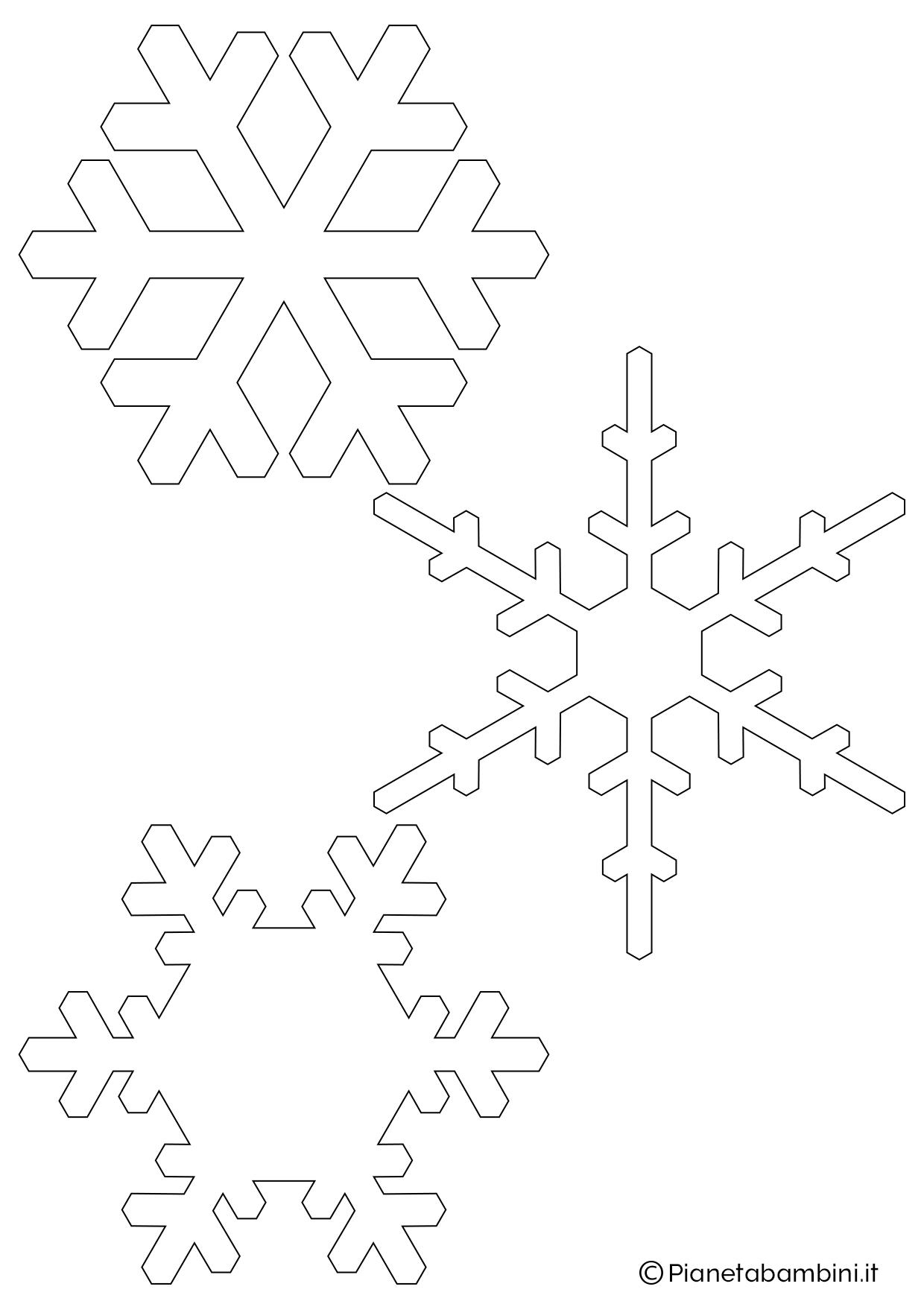 9 sagome di fiocchi di neve da stampare e ritagliare - Immagini pipistrello da stampare ...