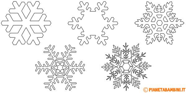 Sagome di fiocchi di neve da stampare e ritagliare