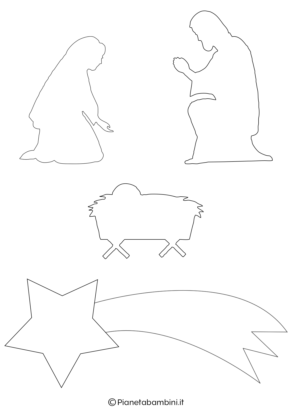 Maria, Giuseppe, Gesù, stella cometa