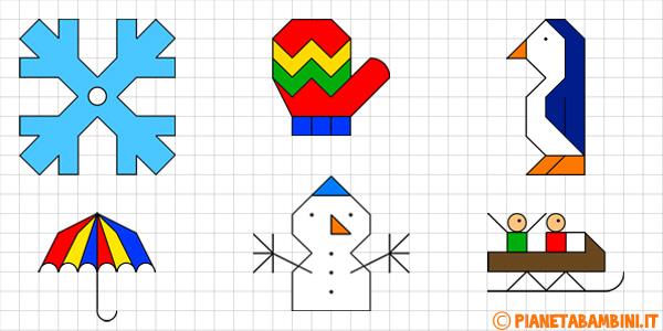 Cornicette invernali da stampare gratis per bambini