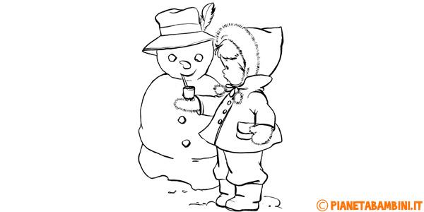 Disegni sull'inverno da stampare gratis e colorare per bambini