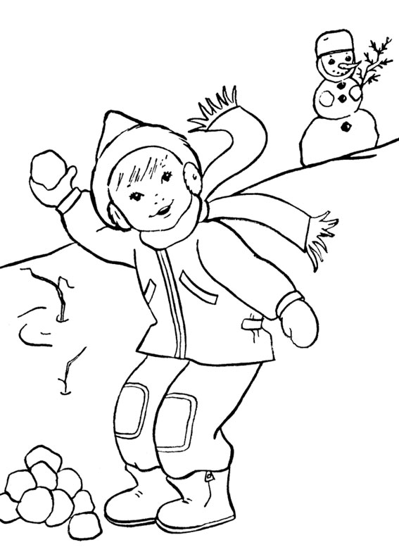 90 disegni sull 39 inverno da colorare per bambini for Disegni da colorare per adulti e ragazzi