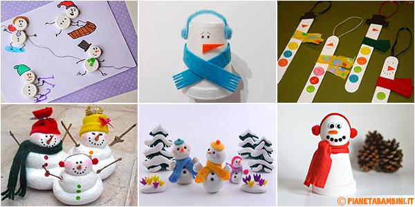 Idee per creare lavoretti dedicati ai pupazzi di neve con i bambini