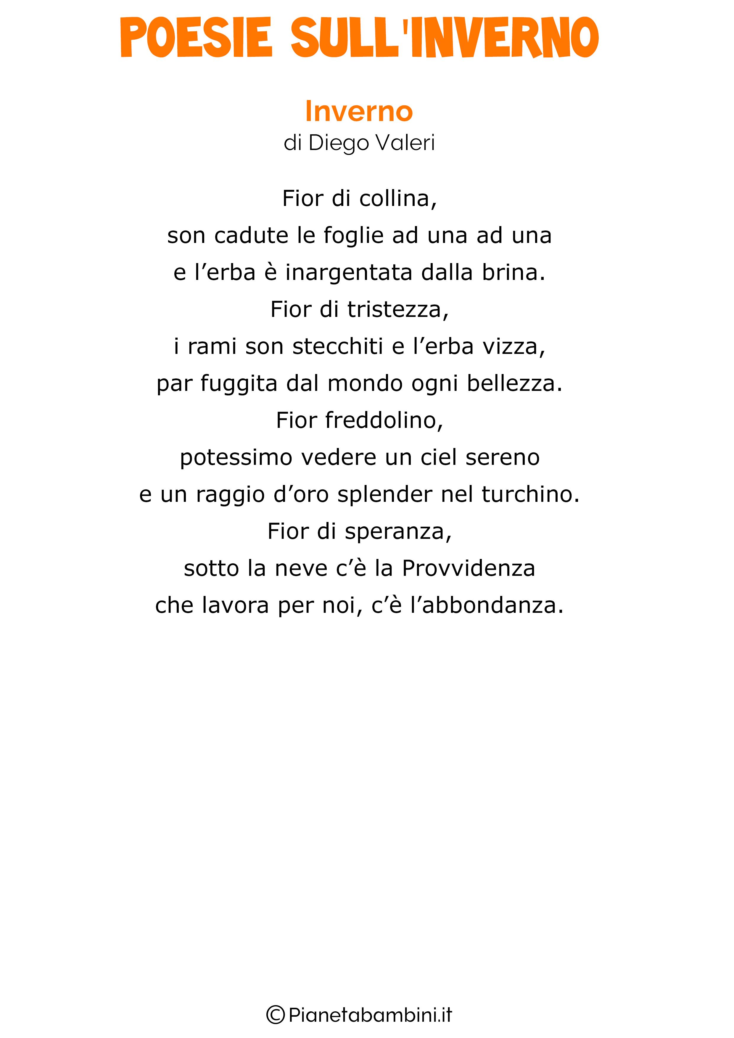 40 Poesie Sullinverno Per Bambini Pianetabambiniit