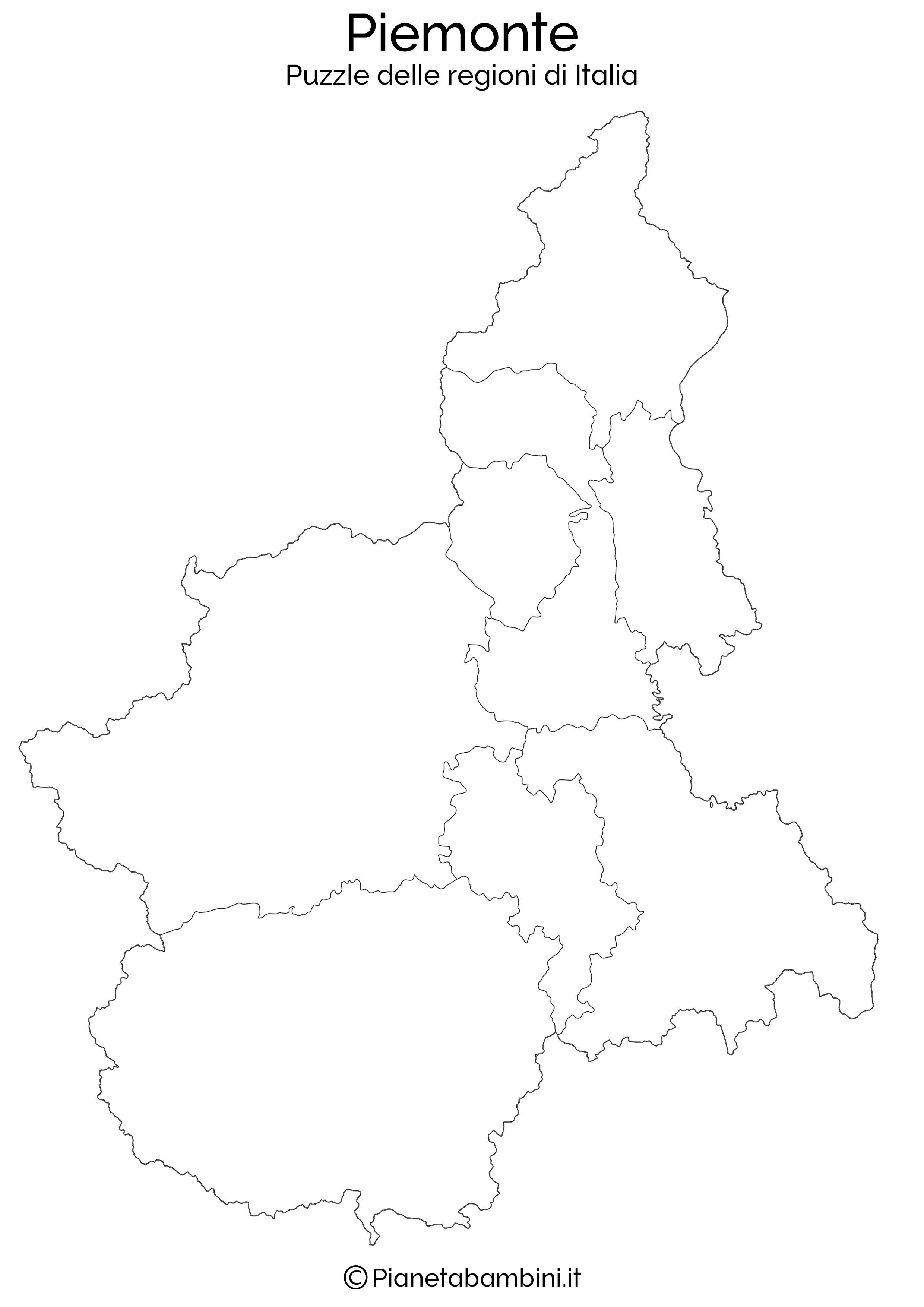 Puzzle delle regioni d italia da stampare pianetabambini