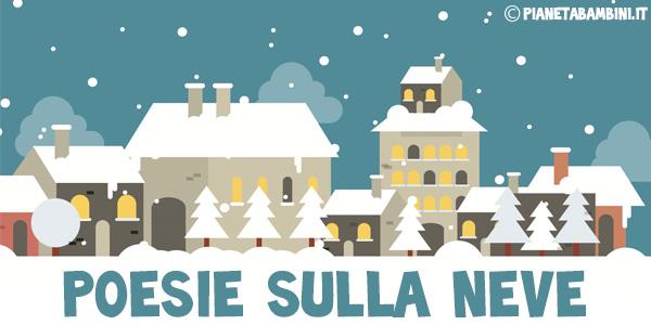 Raccolta di poesie sulle neve da stampare gratis per bambini