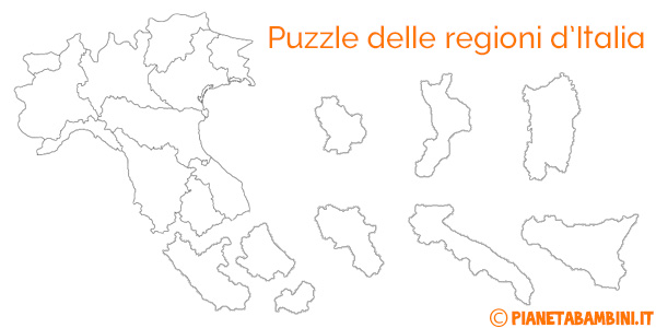 Esercizi Cartina Muta Italia.Puzzle Delle Regioni D Italia Da Stampare Pianetabambini It