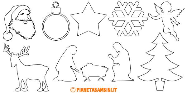 Raccolta di sagome natalizie da stampare gratis e ritagliare