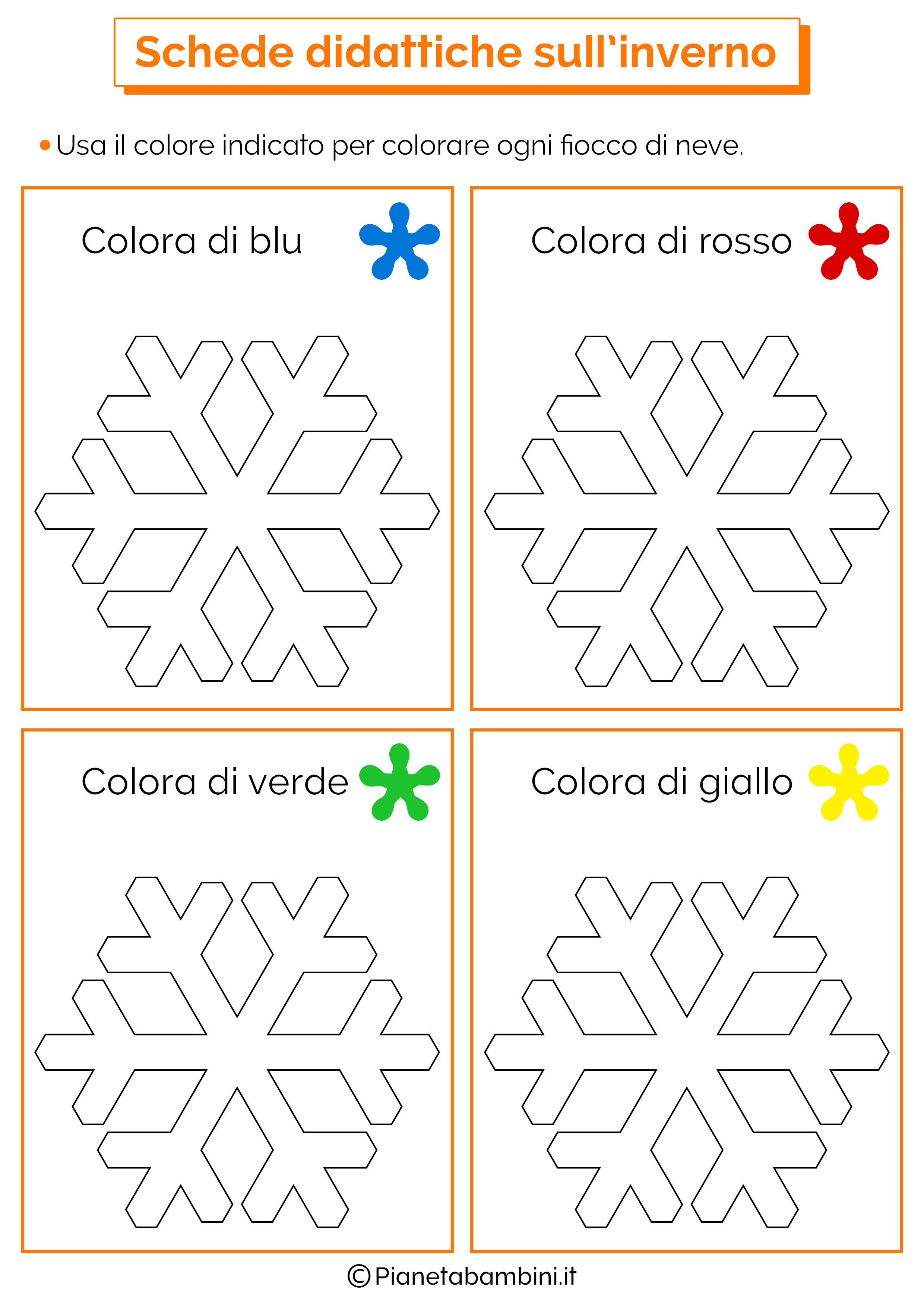 Eccezionale Schede Didattiche sull'Inverno per la Scuola dell'Infanzia  GS64