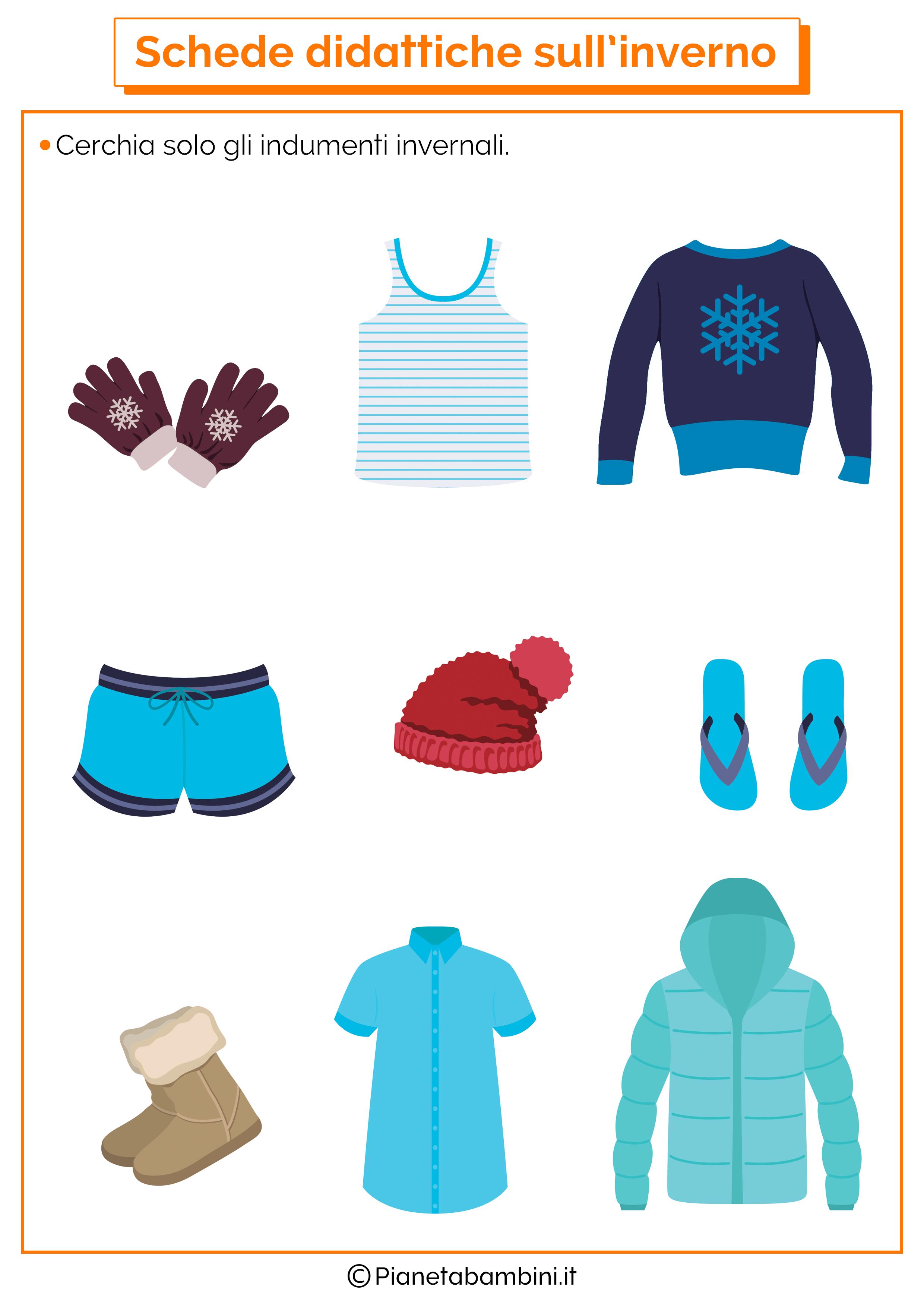Schede didattiche inverno scuola infanzia 7