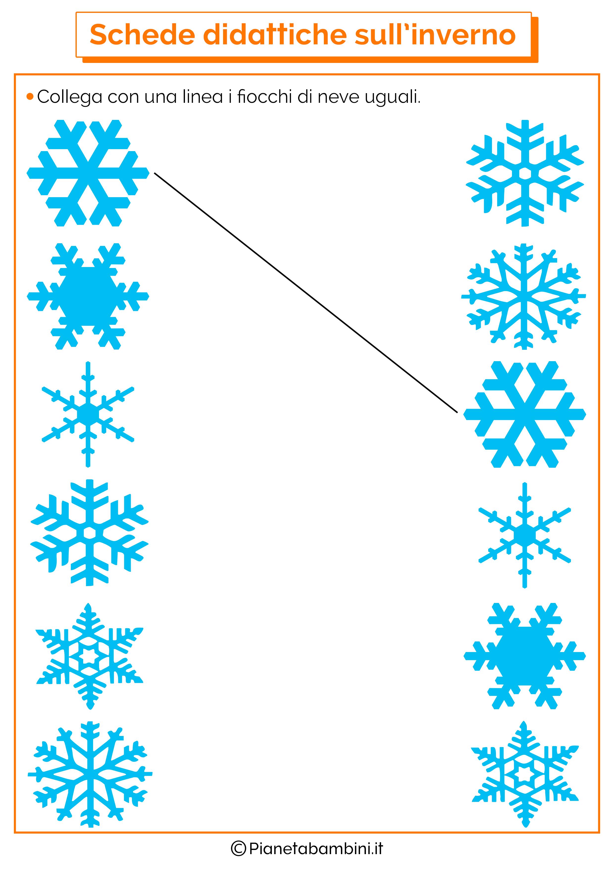 Schede didattiche inverno scuola infanzia 8