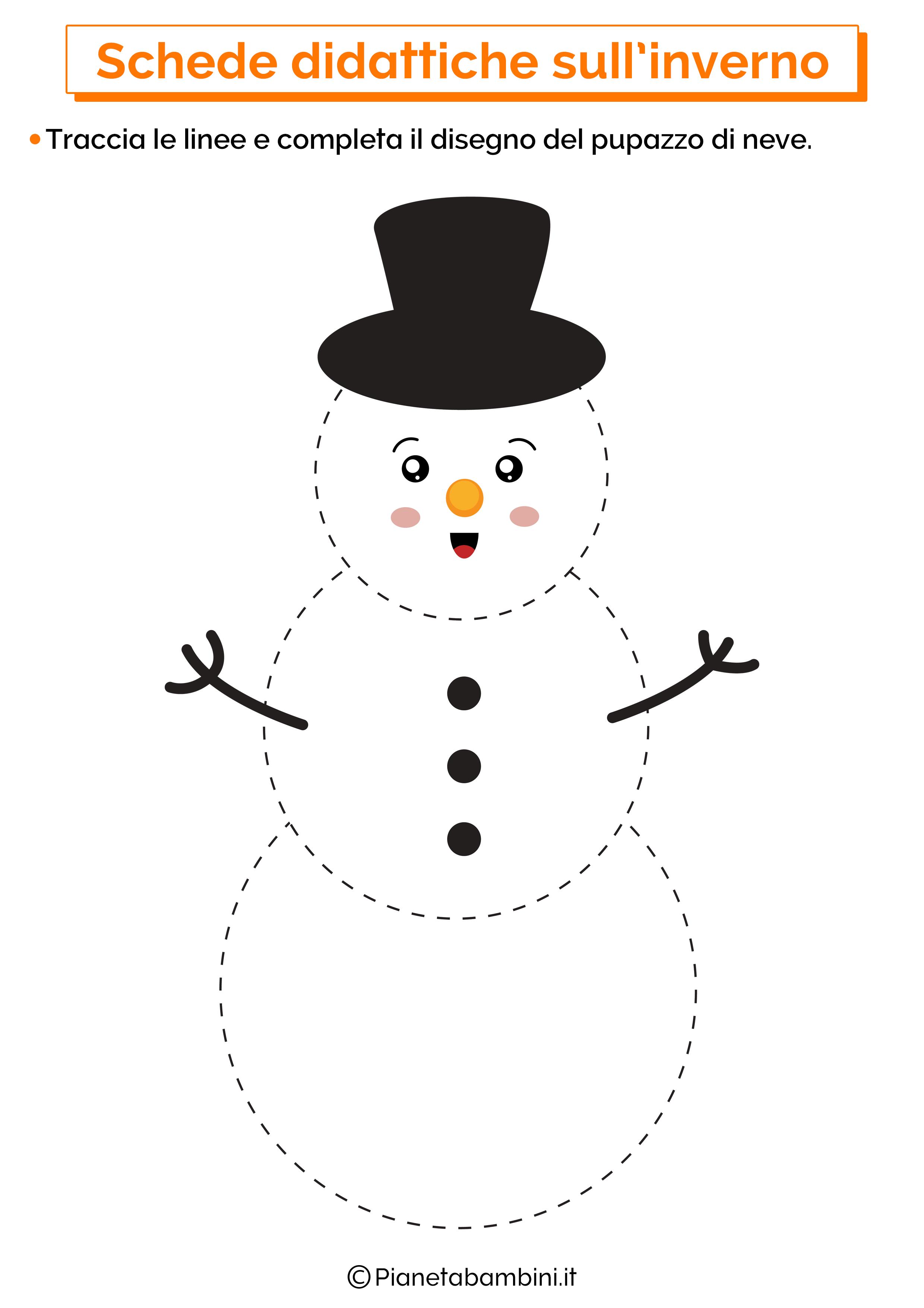 Schede didattiche inverno scuola infanzia 10