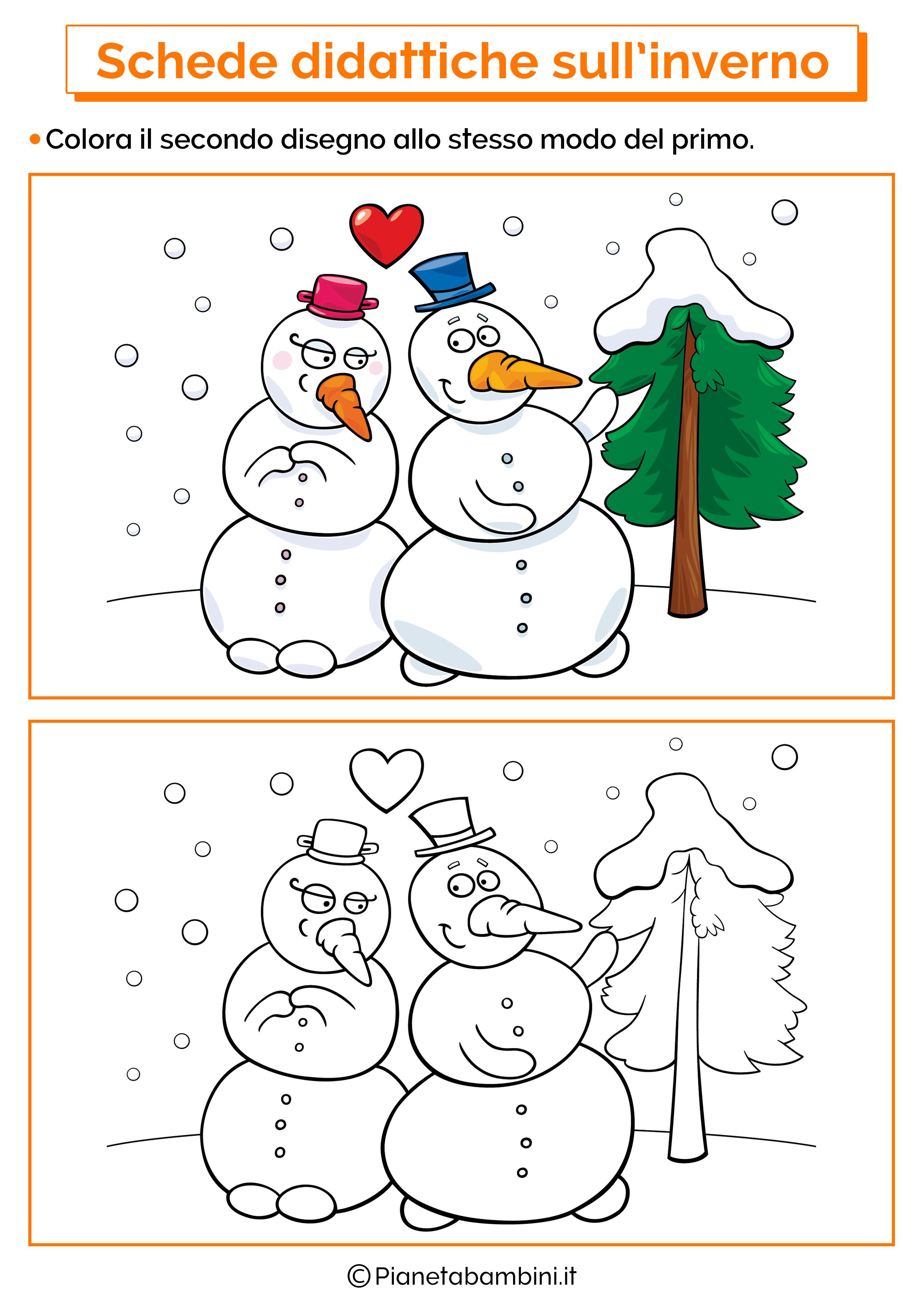 Schede didattiche inverno scuola infanzia 11