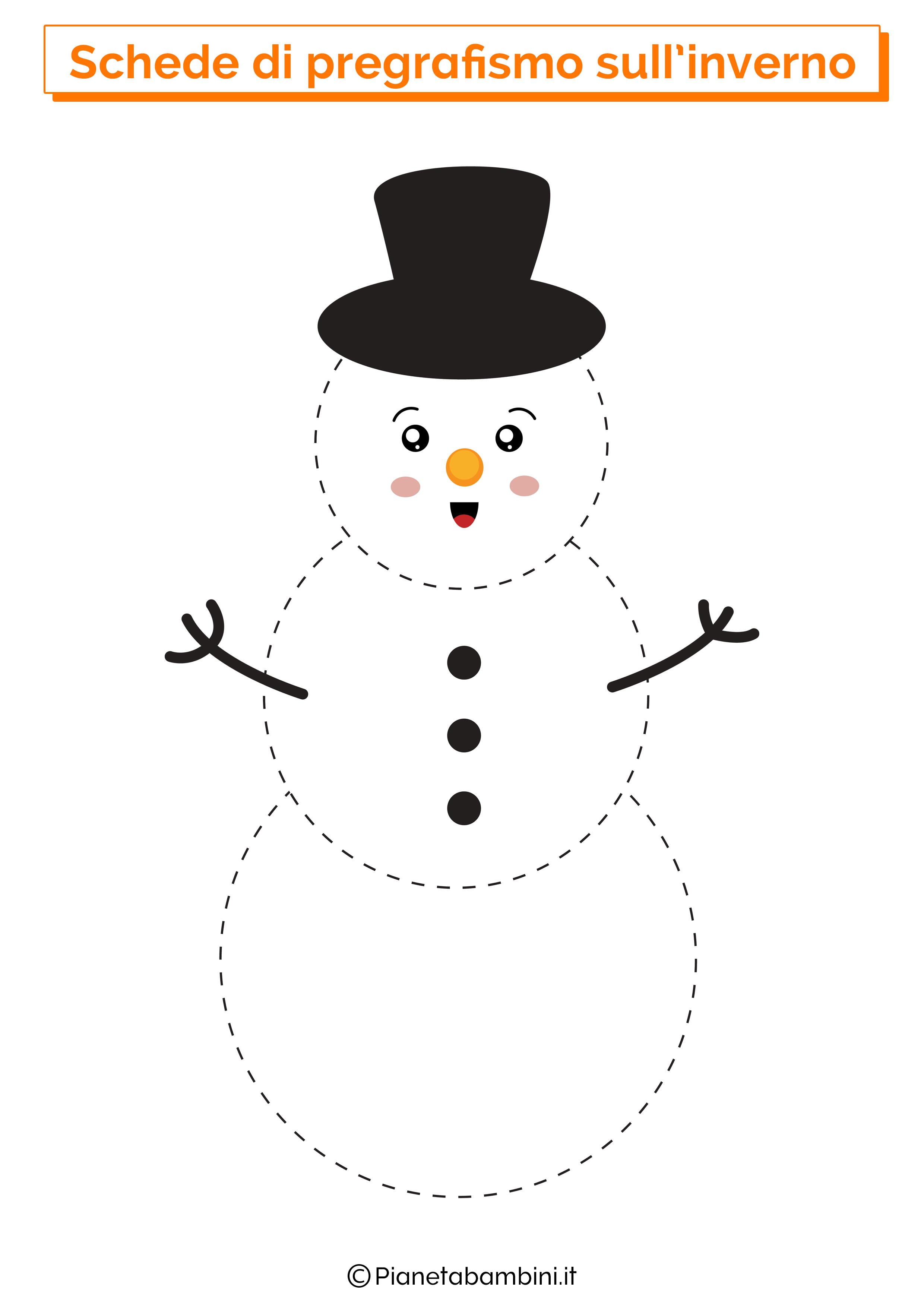 Scheda di pregrafismo sull'inverno 6
