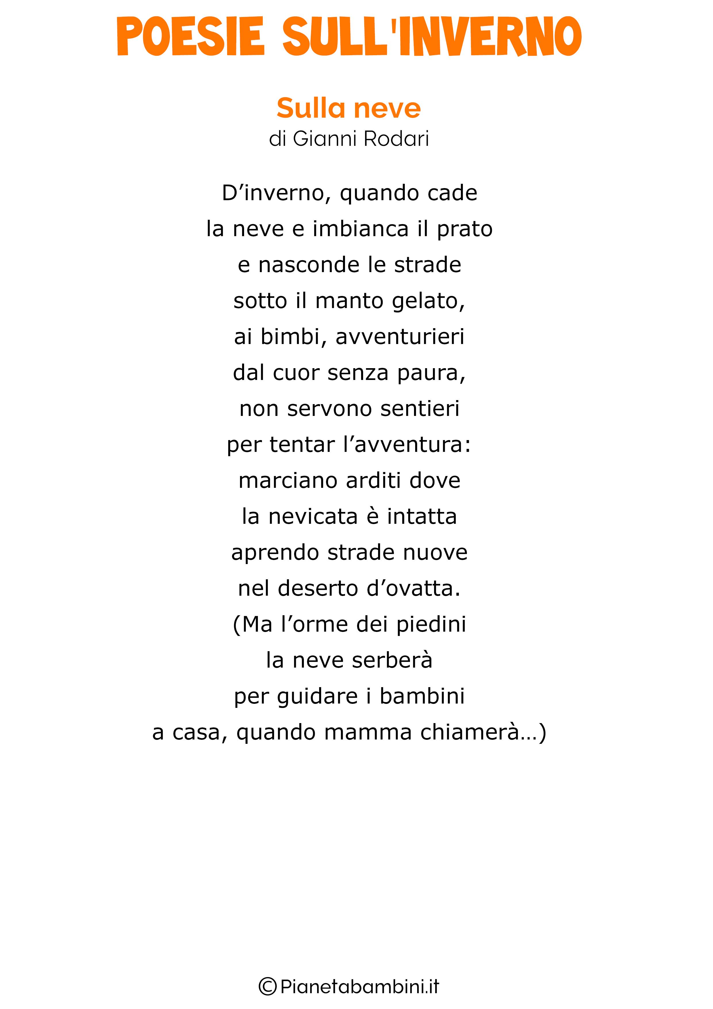 Eccezionale 40 Poesie sull'Inverno per Bambini | PianetaBambini.it XO56