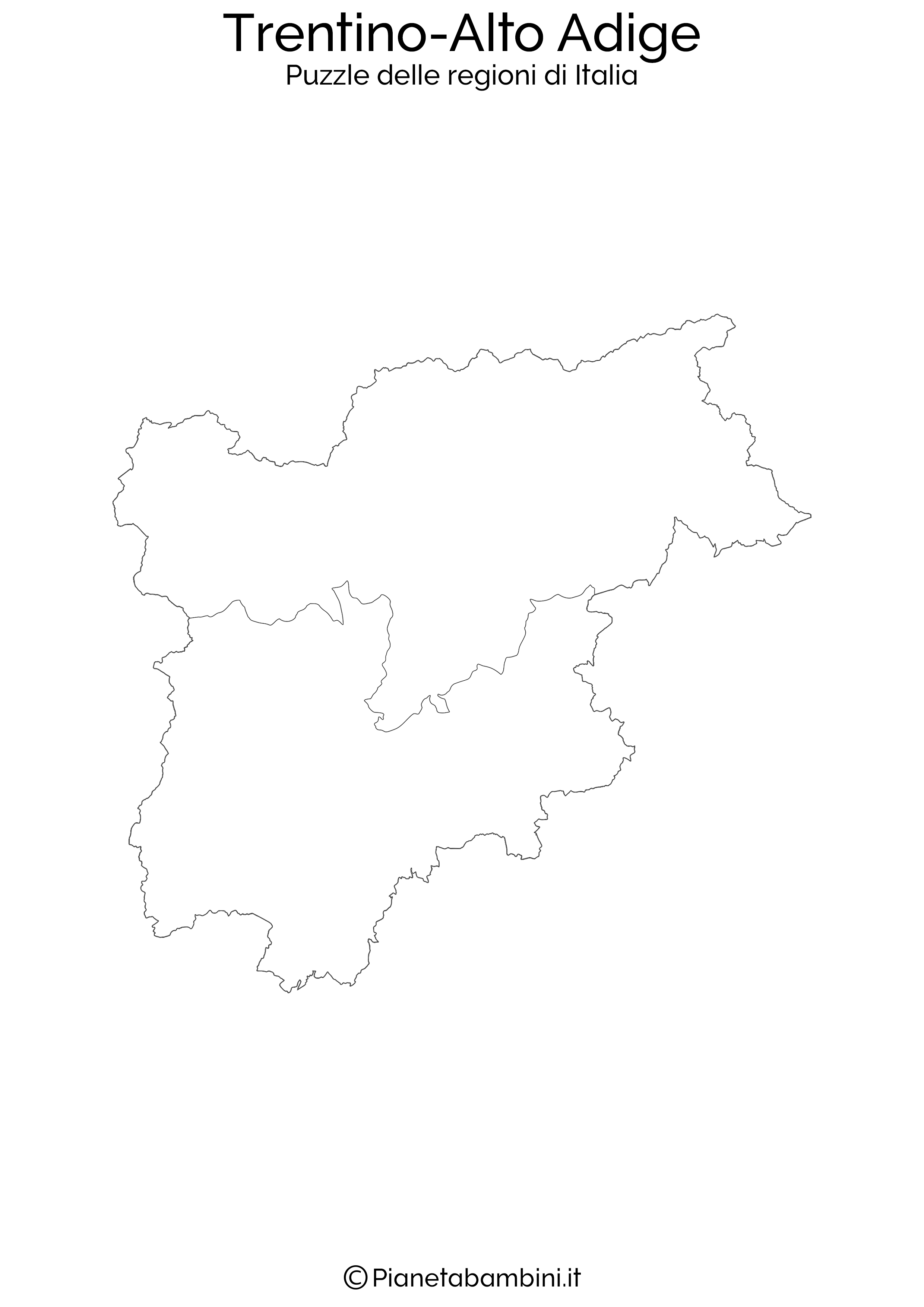 Cartina Muta Del Trentino Alto Adige.Puzzle Delle Regioni D Italia Da Stampare Pianetabambini It