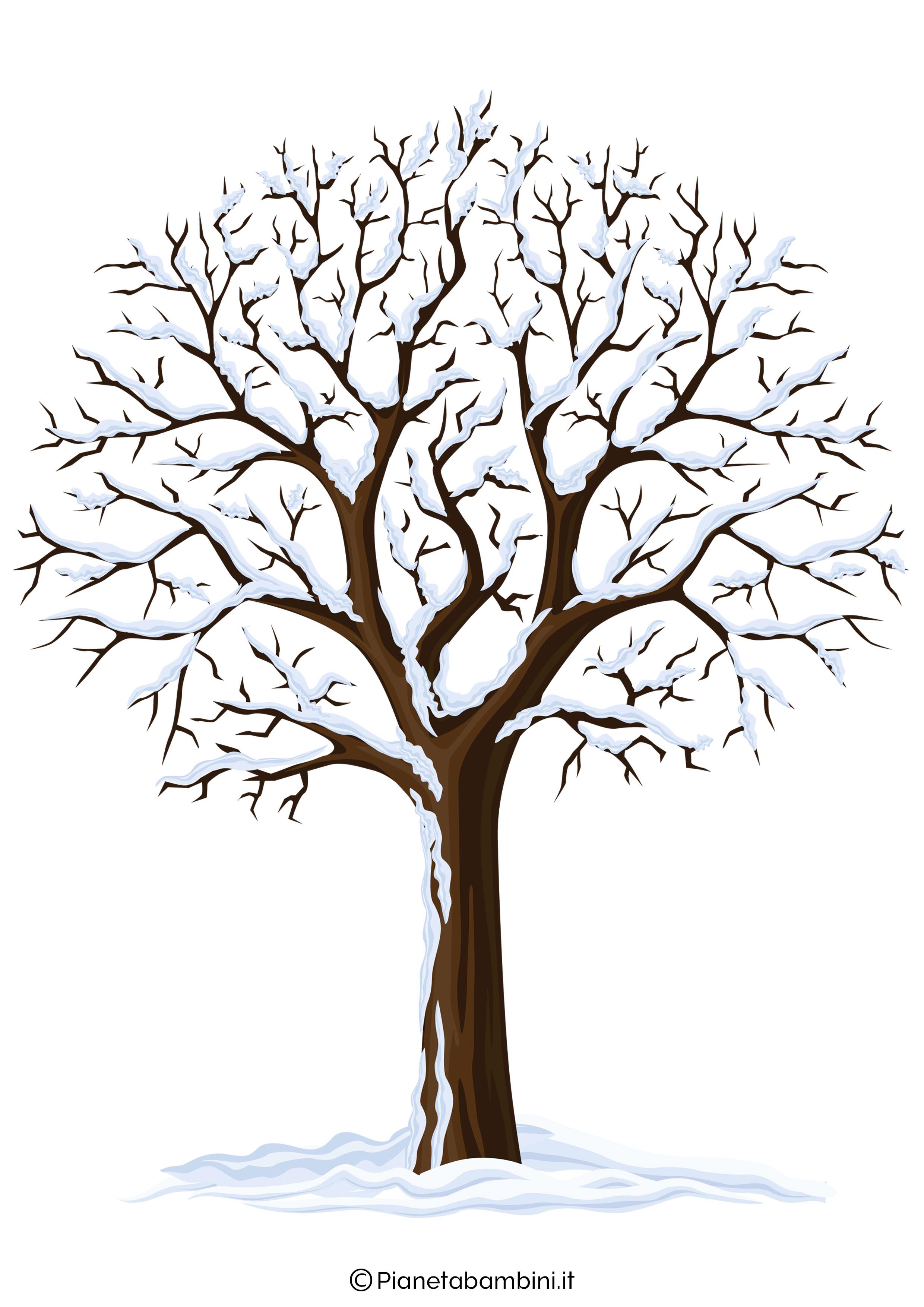 Addobbi d 39 inverno per la scuola dell 39 infanzia for Foto di alberi da colorare
