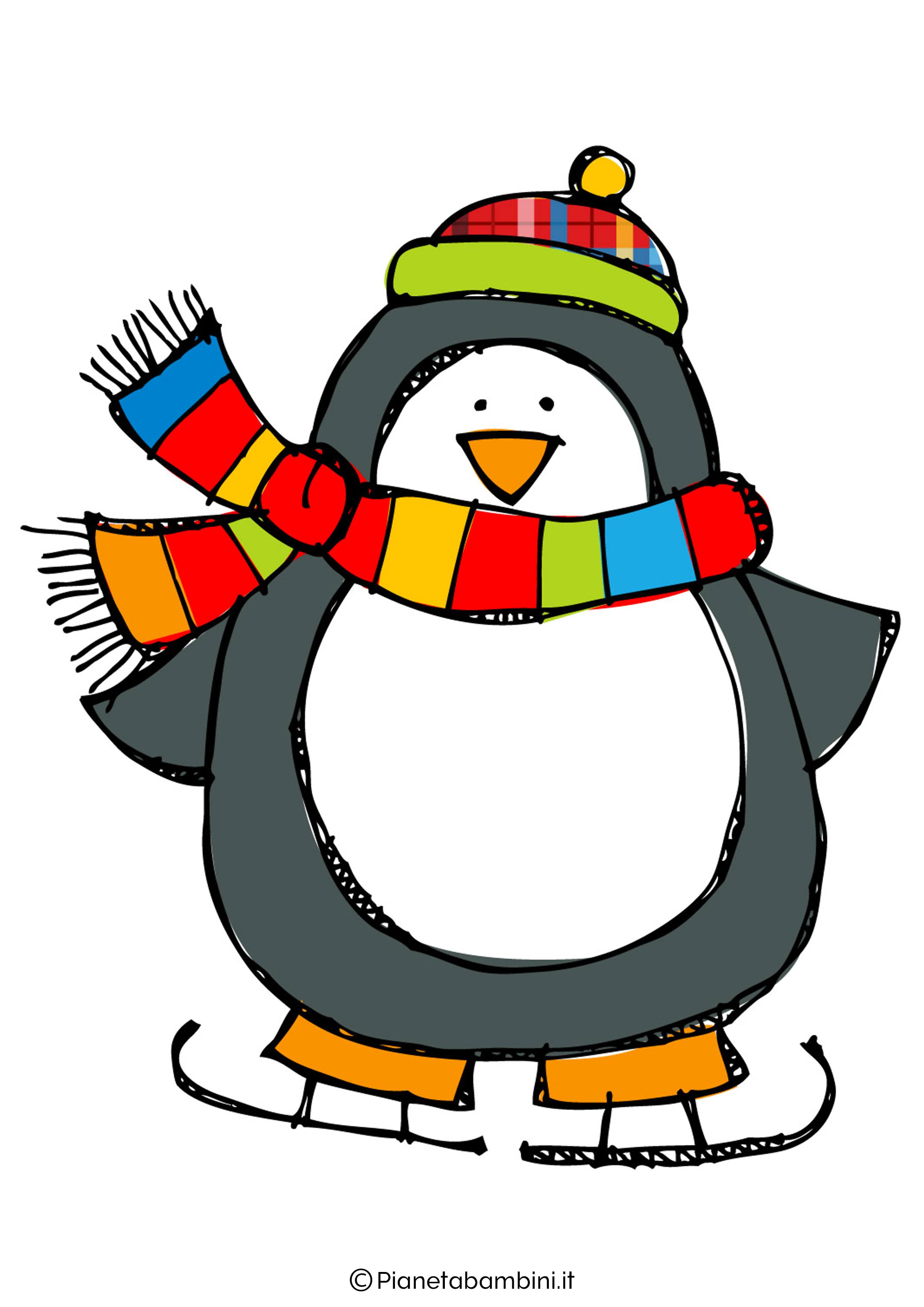 Addobbi d 39 inverno per la scuola dell 39 infanzia for Disegno pinguino colorato