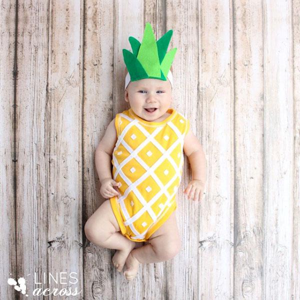 Costume per neonato fai da te da ananas