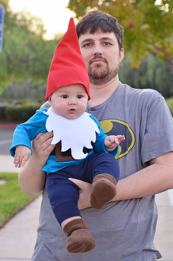 Costume per neonato fai da te da gnomo