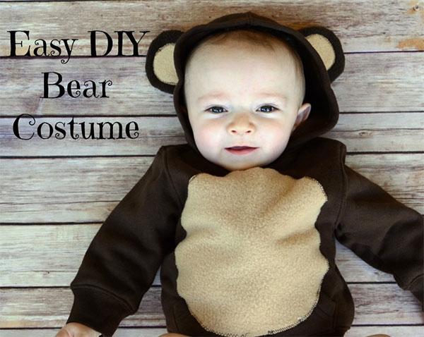 Costume da orso fai da te per neonato