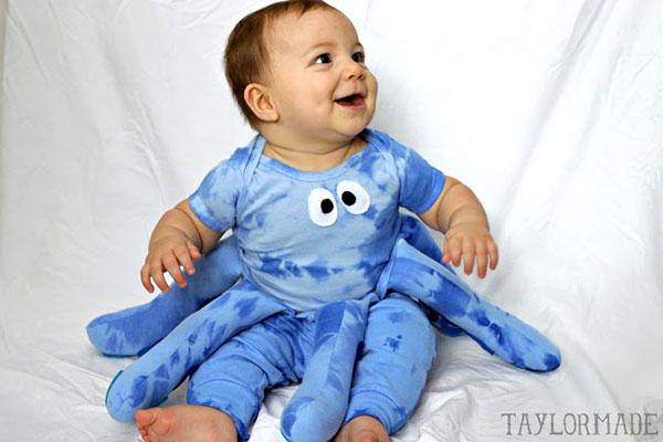 Costume fai da te per neonato da polipo