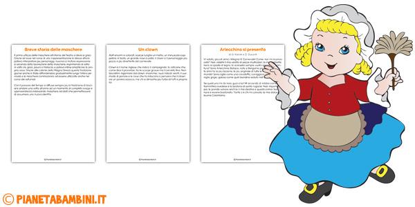 Dettati sul Carnevale per bambini da stampare gratis