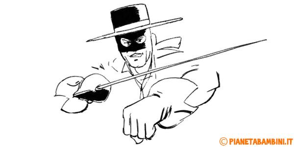 Disegni di Zorro da stampare gratis e colorare