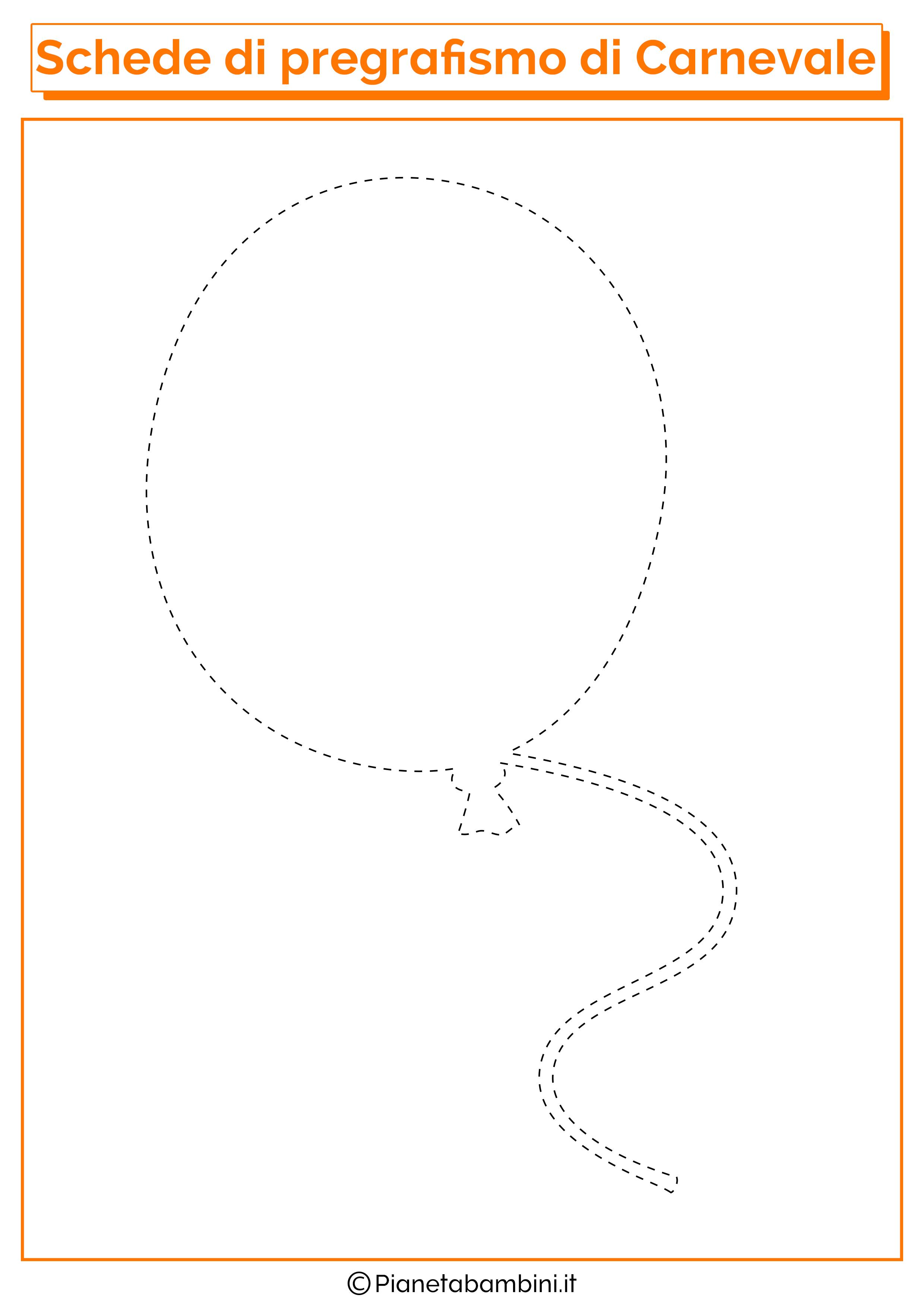 Scheda di pregrafismo sul palloncino