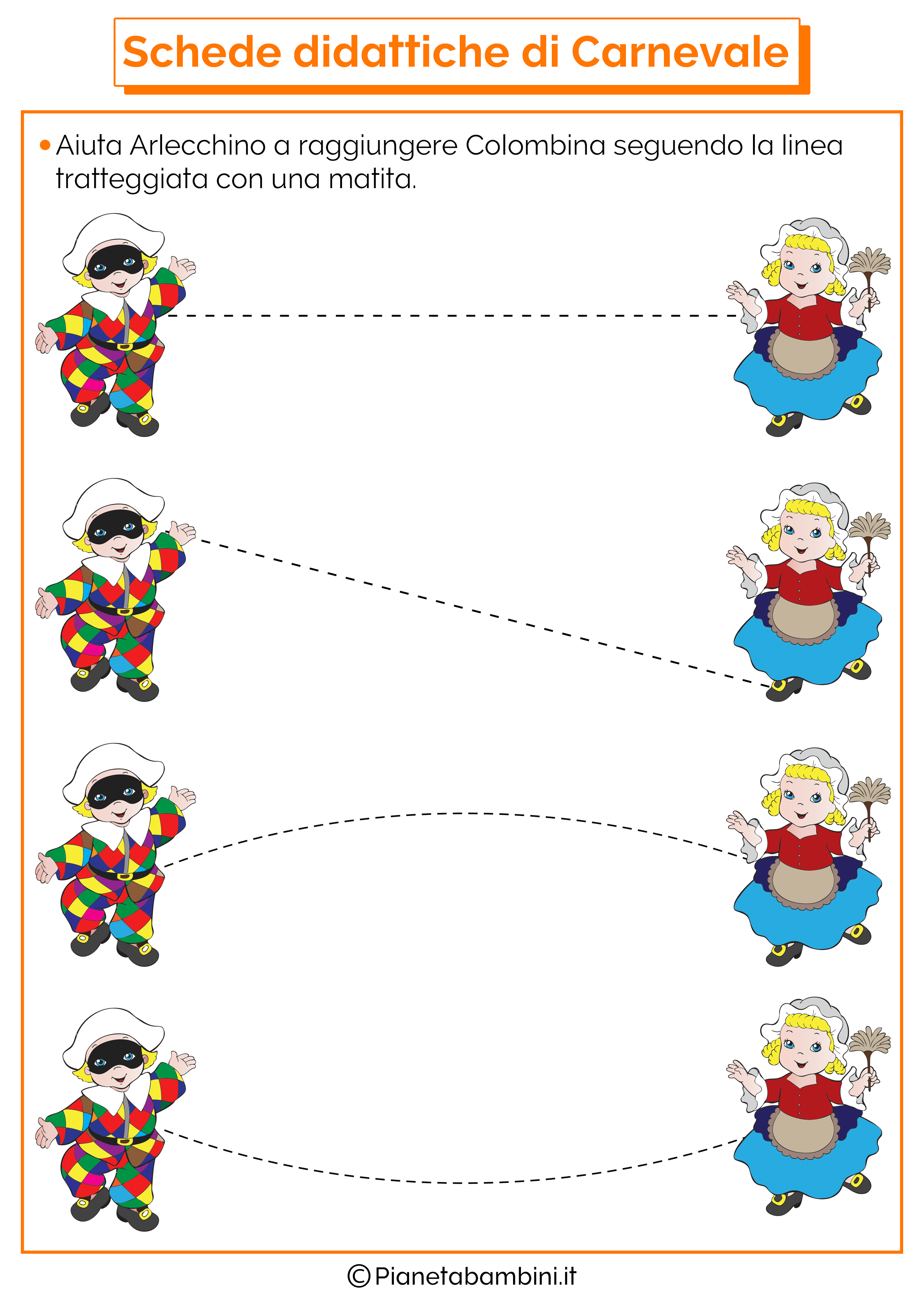 Schede didattiche di carnevale per la scuola dell infanzia