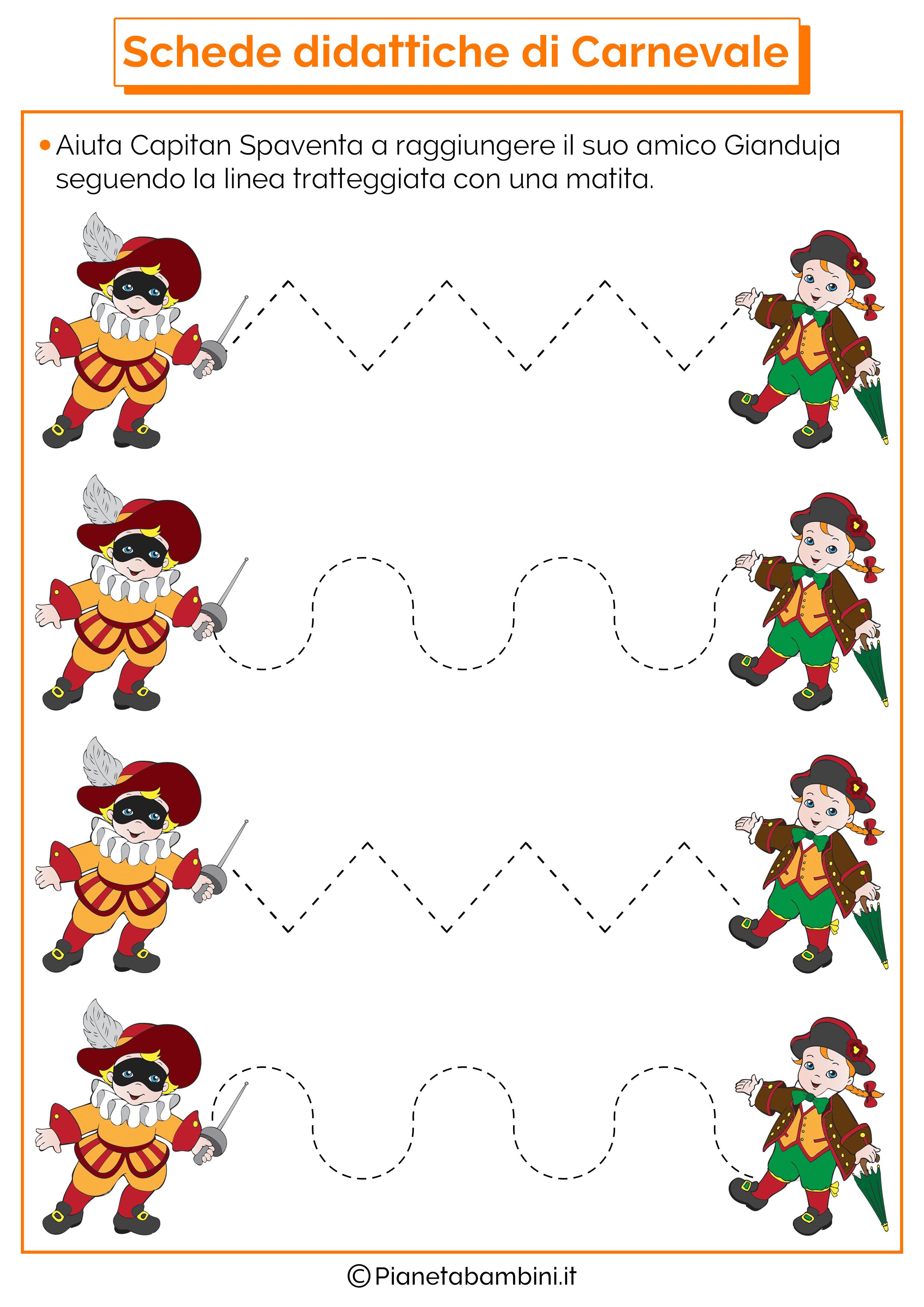 Schede didattiche di carnevale per la scuola dell infanzia for Schede didattiche natale scuola dell infanzia