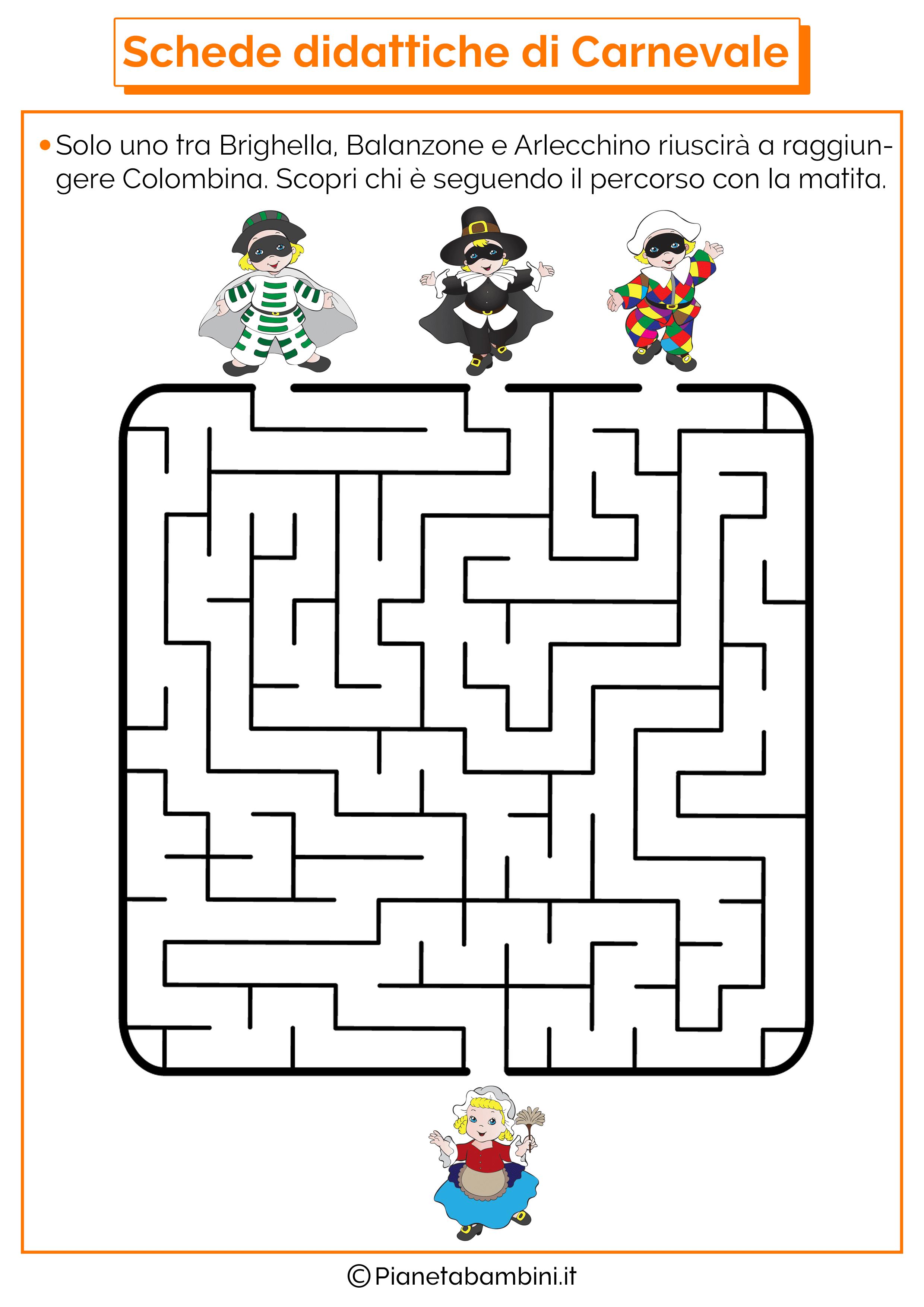Schede didattiche di carnevale per la scuola dell infanzia for Schede didattiche scuola dell infanzia da stampare natale