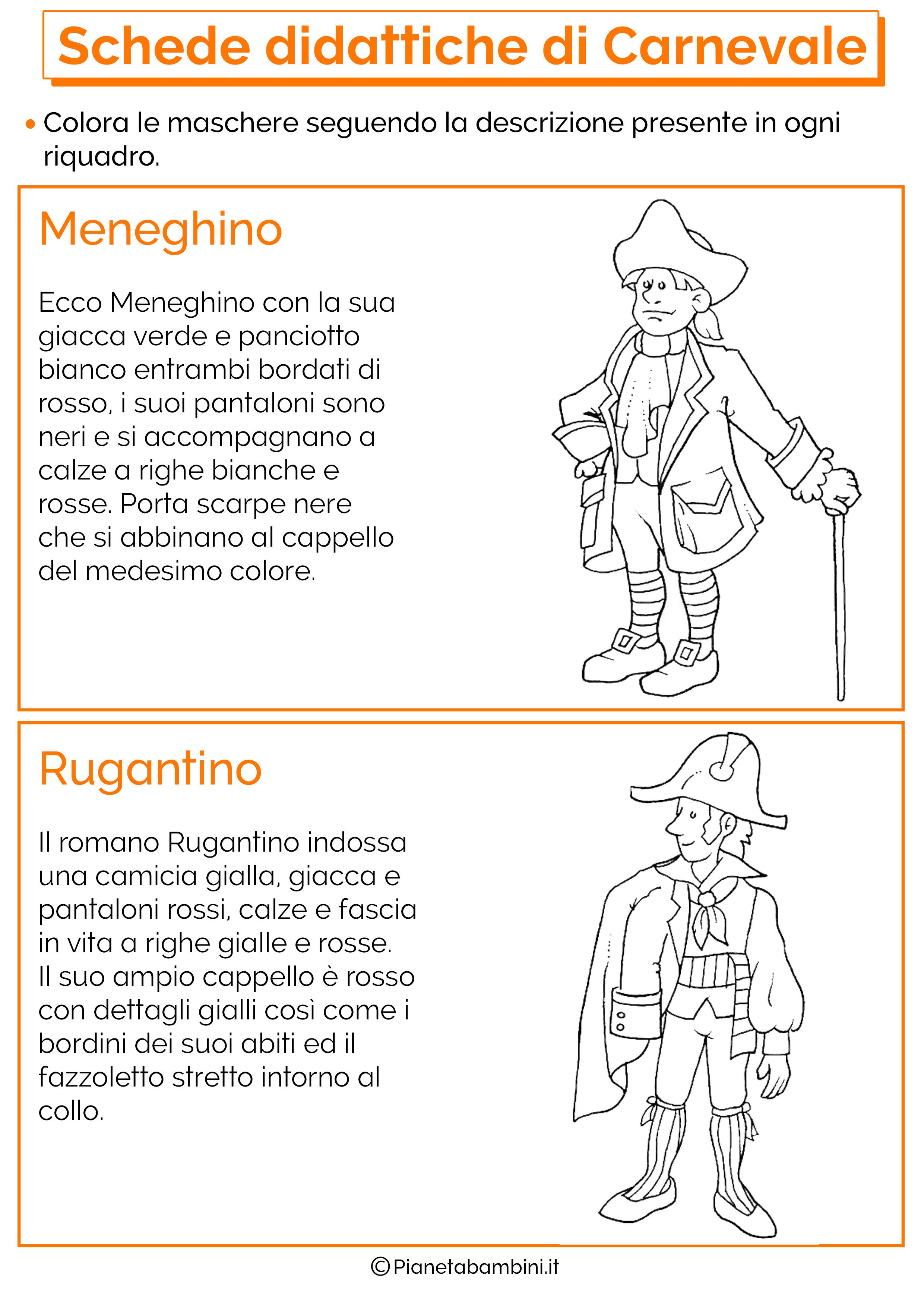 disegni da stampare carnevale